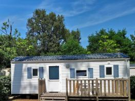 Mobil-home Eco 25m² - 2 chambres + TV + terrasse