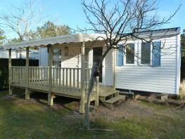 Mobile-home 2 bedrooms Half-covered terrace
