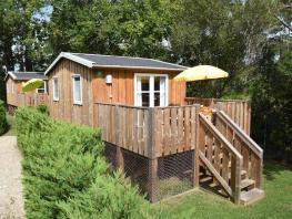 Wooden cabin 21m² (2 bedrooms) + WC No bathroom