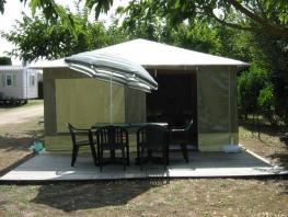 Tent CARAÏBES without toilet blocks