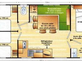 Mobil home Grand Confort 6/8 Pl. - 3 chambres